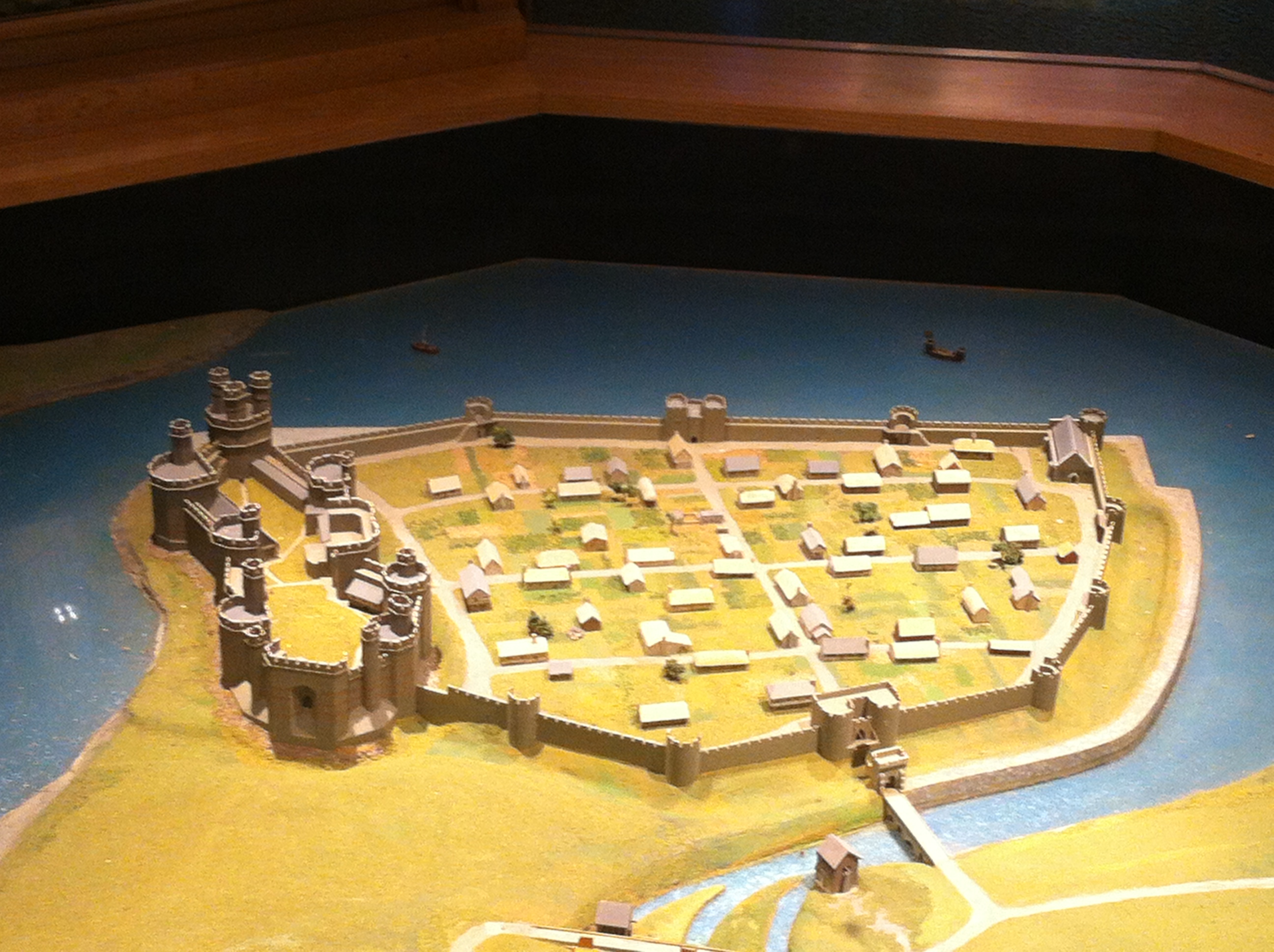 Caenarfon in miniature. Anyone for Warmaster?