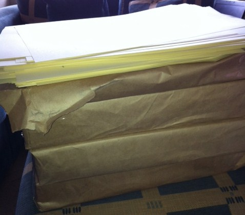 And this is what 8,000 cover sheets look like.